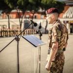 Il generale D'Addario Parla davanti ai reparti schierati