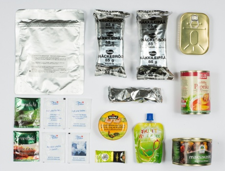 Military food rations. London By David Levene  21/10/13
