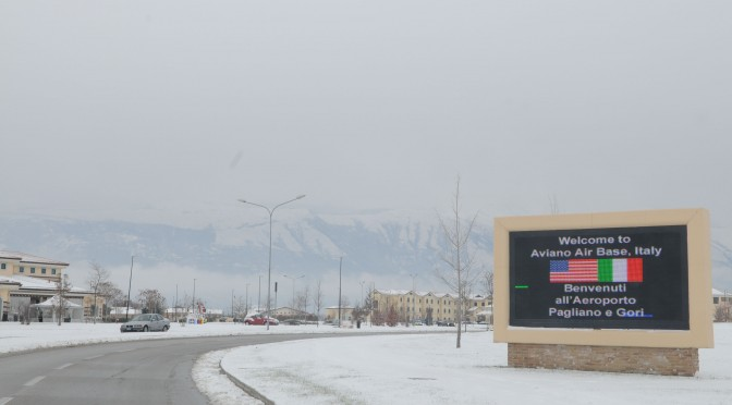 Aviano gets snow