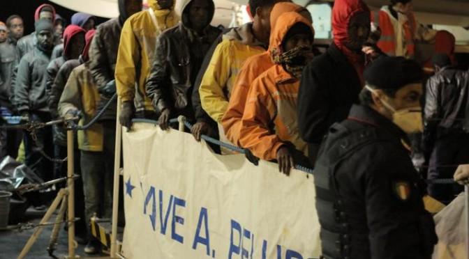MIgrants rescued by Italian Coast Guard