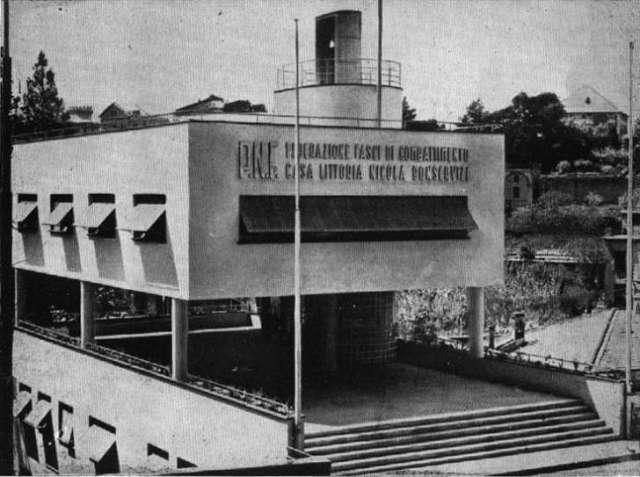 La casa littoria vecchia sede dei paracadutisti genovesi for La casa aperta del piano progetta una storia