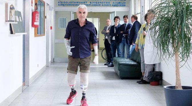 """Roberto Zanda durante la conferenza stampa """"Roberto Zanda: la maratona continua"""" presso ospedale CTO, Torino, 13 giugno 2018 ANSA/ALESSANDRO DI MARCO"""