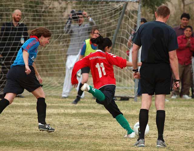 Afghanistan Women's Soccer vs ISAF