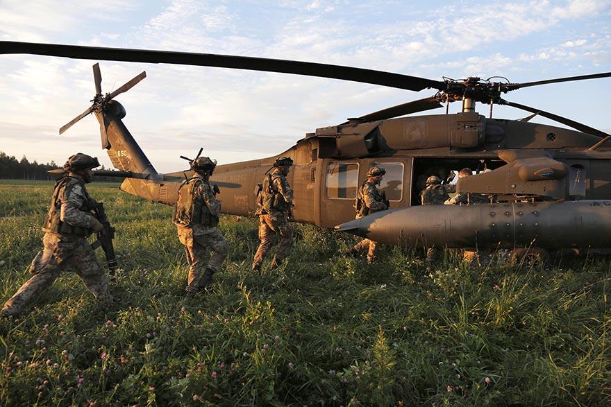 Latvia NATO Exercise Steadfast Javelin II Air Assault