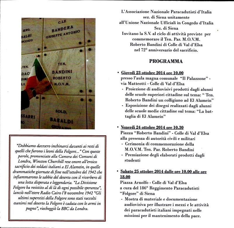 Cerimonia Bandini 2014 interno brochure