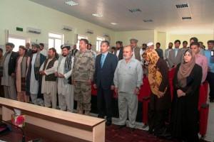 autorita' afgane convenute alla cerimonia