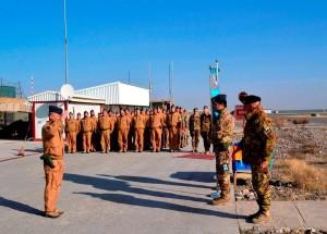 Il Gen. Scardino giunge sul luogo della cerimonia
